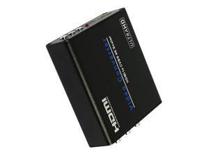New AM960 4Kx2K HDMI to AV Scaler Converter Box for Sony PS4 Play Station 4 HDTV Computer Speaker Blu-Ray DVD Set Up Box EU Plug