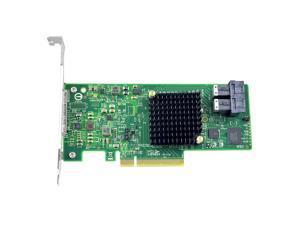 Linkreal 8 Ports PCI Express 3.0 x8 to SATA/SAS RAID Controller Card 12Gb/s with Chipset SAS 3008 For Servers