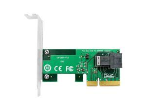 Linkreal 4-Lane NVMe PCIe 3.0 x4 to SFF-8643 Adapter for PCIe NVMe U.2 SSD Connected by U.2 SFF-8639 to SFF-8643 Mini SAS Cable
