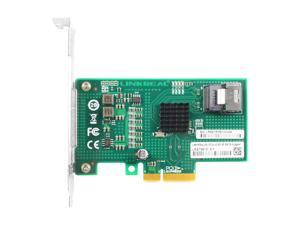 Linkreal PCIe x4 to SATA 3 Expansion Card for Storage Servers Support 4 SATA SSD 6Gb/s with Chipset 88SE9215
