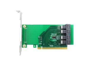 Linkreal 4 Port PCIe 3.0 x16 Bifurcation Controller Card with SFF-8643 36 Pin Connector for U.2 (SFF-8639) PCIe-NVMe SSD - Support Intel 750 2.5-inch U.2 SSD