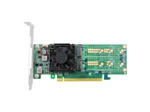 Linkreal PCIe 3.0 x16 to 4 Port M.2 NVMe SSD Swtich Adapter Card