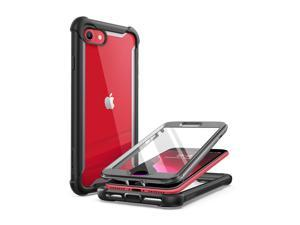 i-Blason Ares Clear Series Designed for iPhone SE 2020 Case/iPhone 7 Case/iPhone 8 Case, [Built-in Screen Protector] Full-Body Rugged Clear Bumper Case for iPhone SE 2020/ iPhone 8/ iPhone 7 (Black)