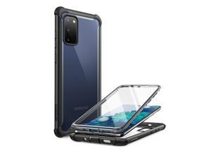 i-Blason Ares Series Designed for Samsung Galaxy S20 FE 5G Case (2020 Release), Dual Layer Rugged Clear Bumper Case with Built-in Screen Protector (Black)
