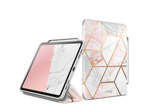 i-Blason Cosmo Case for New iPad Pro 12.9 Inch (2021 2020 2018 Release), Full-Body Trifold Stand Protective Case Smart Cover with Auto Sleep/Wake & Pencil Holder (Marble)
