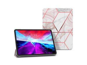 i-Blason Cosmo Lite Case for iPad Pro 12.9, iPad Pro 12.9 inch 2021 Case, Slim Trifold Stand Smart Case Translucent Hard Back Protective Cover with Auto Sleep/Wake (Marble)