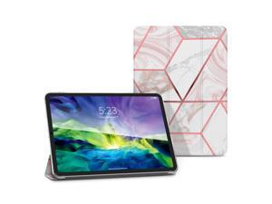 i-Blason Cosmo Lite Case for iPad Pro 11, iPad Pro 11 inch 2021 Case, Slim Trifold Stand Smart Case Translucent Hard Back Protective Cover with Auto Sleep/Wake (Marble)
