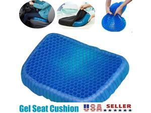 Blue Gel Seat Cushion Breathable Honeycomb Non-Slip Relieves Sciatica Gel Flex Pillow Breathable Seat Cushion Gel Flex Sitting Cushion Back Support