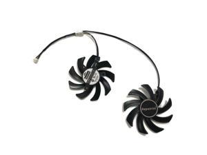 2pcs/lot Graphics card fan 85mm DC 12V 0.4A 4Pin VGA Cooler Fans For dataland Po R9 280X R9-280X 3G TURBO DUO Video Card cooling