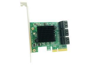 H1111Z Add On Cards PCI Express/PCI-E/PCIE SATA 3 Controller/Adapter SATA3 PCI-E PCIE to SATA Expansion Card 6 Port SATA 3.0 6Gb