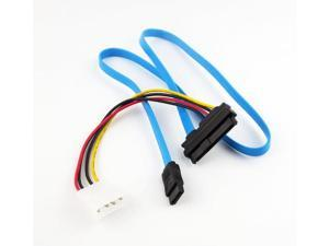 50cm Mini SAS 29P SFF-8482 to SATA 3.0 7P Cable Adapter w/ Power Cable Connector