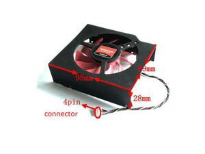 FD8015U12S 98x89x28mm 12V 0.5A  Fan For AMD Radeon HD 7870 MSI R7950 Graphics card cooling