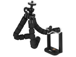 Phone Tripod,Portable Mini Tripod, Flexible Octopus Style Camera Mount Holder for Travel Outdoor Compatible with iPhone & Android Phones,Cameras (Black)