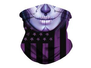 USA Flag Mouth Print Multifunction Tube Bandana Scarf Neck Gaiter Head Face Cover Multi-use Outdoor