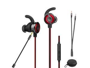 2019 Wired Gaming Headset, Megadream Noise Cancelling Stereo Bass Gaming Earbuds Gaming Sports Headset with Removable Adjustable Microphone, 3.5mm Jack, Desktop Adapter, Suitable for PS4 / Xbox One /