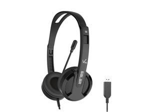 With Noise-Canceling Microphone's USB Wired Headsets,V38 for Skype/Call Center/Crystal Clear Chat