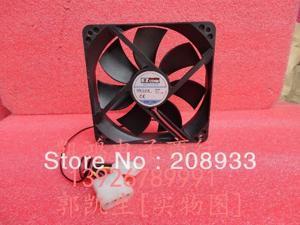 For Power supply fan of the the 12V 0.21A EZF12025 12CM12 cm chassis fan silent fan ++cooling fan