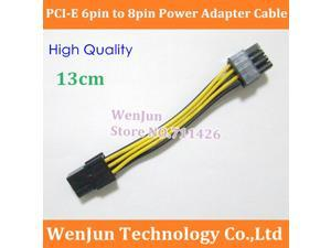 Shiping 6 pin(F) to 8 pin(M)  PCI-E Power Cable 6pin to 8pin PCI-E Power Adapter Cable graphic card support GTX480 GTX295
