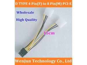 from factory D TYPE 4 Pin(F) to 8 Pin(M) PCI-E graphic card Power cable support GTX280 9800GX2 GTX295