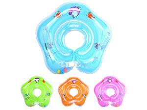 0-12 Months Newborn Infant Baby Swimming Pool Bath Shower Neck Floating Inflatable Ring Circle Float Summer Holiday Blue US STOCK