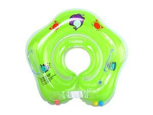 0-12 Months Newborn Infant Baby Swimming Pool Bath Shower Neck Floating Inflatable Ring Circle Summer Holiday Green US STOCK
