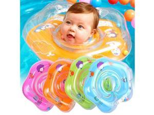 0-12 Months Baby Newborn Infant Swimming Pool Bath Shower Neck Floating Inflatable Ring Circle Summer Holiday Orange US STOCK