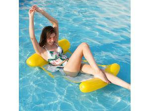 Water Hammock Recliner Inflatable Foating Swimming Mattress Sea Swimming Pool Party Toy Lounge Bed for Swimming