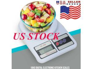 10kg/1g Digital Kitchen Scales LCD Electronic Household Food Cooking Scales Weighing Kitchen Baking Scale Portable Kitchen Scale US Shipping