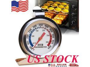 Kitchen Thermometer Cooking Thermometer Oven Cooker Thermometer Stainless Steel Oven Cooker Thermometer Temperature Gauge for Oven BBQ Meat Temperature Measure US Shipping