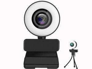 Vicabo 2K Quad HD Webcam for PC Computer 1440P QHD Camera, USB Web Cam Buit-in Microphone, Expandable Tripod, Touch Switch Light, for Skype, Zoom, Streaming, Teleconference etc.