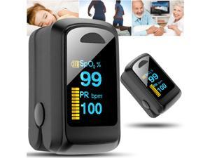 Oximeter Medical Finger Pulse Oxygen Finger Clip Heart Rate Monitoring Heartbeat Pulse Blood oxygen Saturation Detector Home