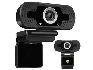 1080P HD Webcam Desktop Laptop Computer PC Camera Built in Microphone Clip-On Video Conferencing Video Calling Web Cam