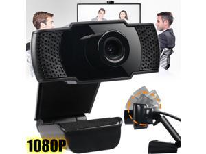 1080P HD Webcam Desktop Laptop Computer PC Camera Built in Microphone Clip-On for Video Calling