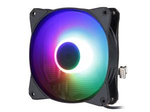 Vicabo Z100 CPU Air Cooler Heatsink 120mm RGB LED Black Edition Quiet CPU Fan with 4 Heatpipes, Hydro Bearing , for Intel 115x/775, AMD AM3/AM4 CPUs
