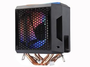Black Edition RGB LED Lighting PC CPU Air Cooler Fan Cooling Radiator Heatsink CDC Aluminum Heatpipes For AMD/775 /1150/1151/1155/1156 New type