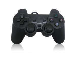 Vicabo 208 USB Wired Gamepad, Game Controller for PC / Windows - Black