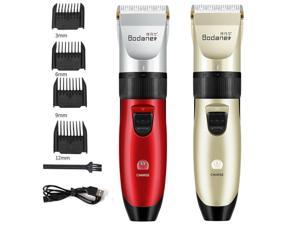 Professional Electric Hair Clippers Men's Barber Set Cordless Trimmer Shaver Haircut Hairdressing USB Charging With 4X Combs