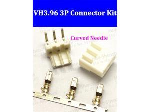 50set Curved needle 90 degree VH3.96 3.96mm 3pin Female and Male Connector socket A set include socket + plug + terminals pin