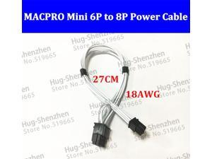 mini 6pin to pcie 8pin 8 pin video card power cable support for Mac pro G5 GTX480 gtx680--10pcs/lot