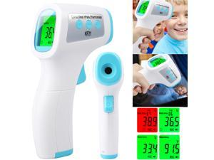 LCD Digital Non contact IR Infrared Thermometer Kids Adult Forehead Body Temperature Gun