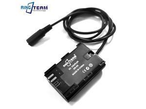 LP-E6 LPE6 Battery with 100CM Cables DC 5.5*2.1MM Female for Blackmagic Pocket Cinema Camera 4K 6K BMPCC4K BMPCC6K & Monitors
