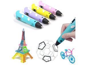 3D Pen Art and Craft DIY Drawing 3D Printing Printer Pen with PLA Filament Refills for Kids Drawing Tools Nonclogging 3D Printer Pens with LCD Display