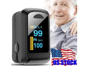 Finger Pulse Oximeter Oxygen Saturation Meter SpO2 Household Heart Rate Portable OLED display Family