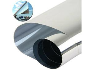 Window Film UV Blocking Heat Control Static Cling Reflective Glass Tint for Home Office, 50x100cm Silver