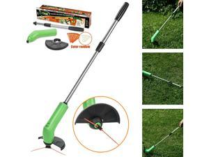 Cordless Electric Power Grass Trimmer Weed Remover, Potable Lawnmower Garden Lawn Edging and Trimmi