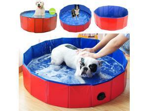 """Foldable Portable Pet Bath Pool Dog Cat Pets Swimming Pools Bathtub Dogs Animal Bathing Swimming Tub, 120x30cm/47.24"""" * 11.81"""""""