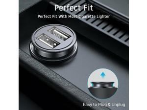 2 Way Car Cigarette Lighter Socket Charger Splitter High Speed Charging Power Adapter Dual USB 12V - Black
