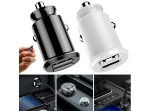Dual USB Port Car Charger 12V Car Cigarette Lighter Socket Splitter 2 Way USB Charging Power Adapter Outlet (White)