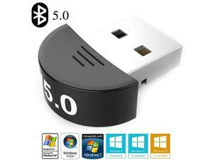USB Bluetooth 5.0 Adapter, Wireless Dongle High Speed for PC Windows Computer, Bluetooth Receiver/Transmitter Support Headset, Mouse, Keyboard, Printer, Speaker and More