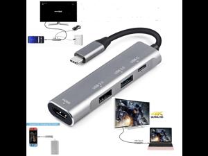 Type C HDMI Dock 4 in 1 Thunderbolt 3 Dex Station HDMI 4K for Samsung Galaxy Note 8 S9 S8 USB Hub USB C/Thunderbolt 3 to Digital AV Multiport Adapter